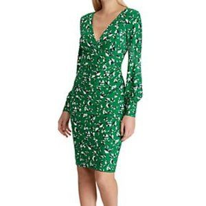 New Lauren Ralph Lauren Floral-Print Jersey Dress
